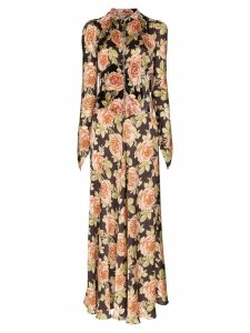 Paco Rabanne floral print flared dress - Multicolour