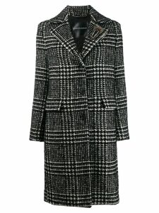 Ermanno Scervino check print coat - Black