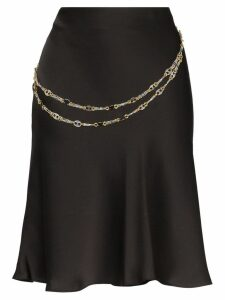 Paco Rabanne chain belt short skirt - Black