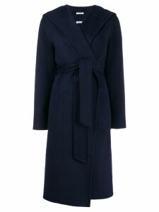 P.A.R.O.S.H. hooded midi coat - Blue