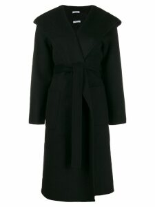 P.A.R.O.S.H. hooded midi coat - Black
