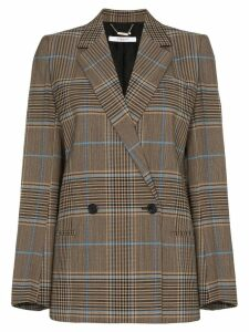 Givenchy double-breasted check jacket - Brown