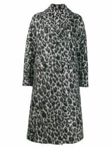 Ermanno Scervino leopard print jacket - Black