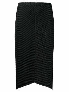 Issey Miyake textured pleat skirt - Black