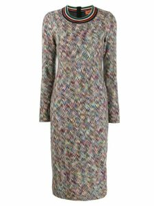 Missoni zig zag pattern dress - Red