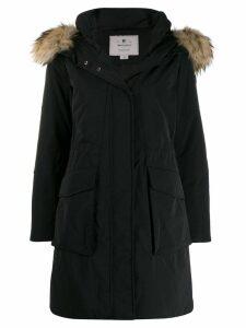 Woolrich trimmed hood parka coat - Black
