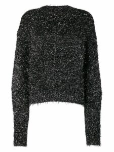 Isabel Marant tinsel knitted jumper - Black