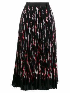 Prada pleated lightning bolt skirt - Black