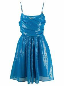 MSGM sequin detail wrap dress - Blue