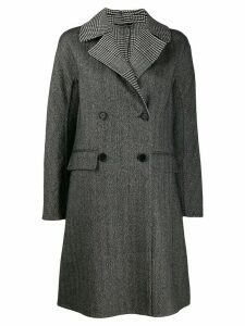 Ermanno Scervino mixed check jacket - Black