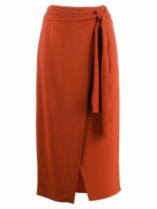 Rochas wrap midi skirt - Orange