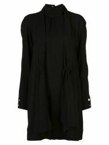 Tibi modern drape shirred dress - Black