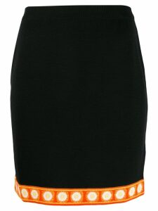 Moschino printed hem short skirt - Black