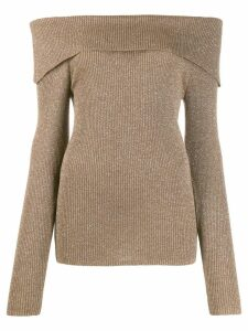 P.A.R.O.S.H. off the shoulder knitted top - Neutrals
