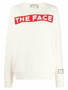 Gucci The Face print sweatshirt - Neutrals