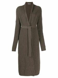 Agnona cashmere long cardigan - Brown