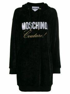 Moschino logo print hoodie dress - Black