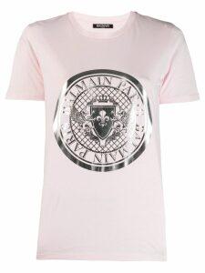 Balmain medallion print T-shirt - Pink