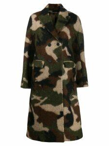 Ermanno Scervino camouflage print coat - Green