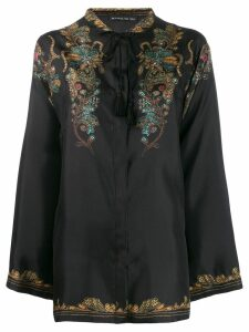 Etro flared mandarin blouse - Black