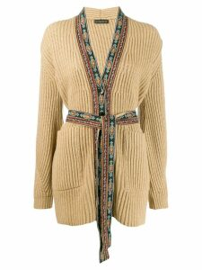 Etro ribbed knit cardigan - Neutrals