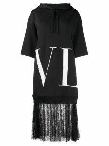 Valentino VLTN lace-trimmed sweatshirt dress - Black