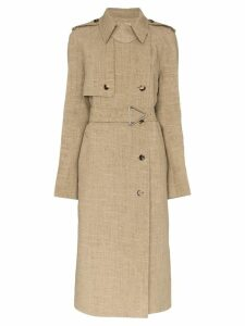 Bottega Veneta double-breasted trench coat - Neutrals