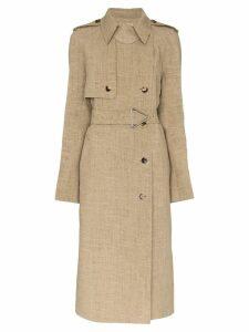 Bottega Veneta double-breasted trench coat - NEUTRALS