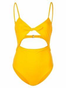 Mara Hoffman Kia tie front one piece - Yellow