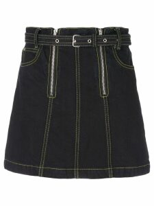 Proenza Schouler PSWL Zip Rigid Denim Skirt - Black