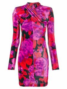 Richard Quinn floral print mini dress - Pink