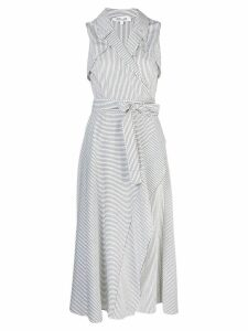 Diane von Furstenberg striped wrap dress - White