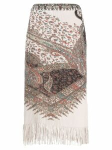 Etro paisley knit skirt - NEUTRALS
