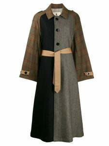 Barena patchwork design coat - Brown