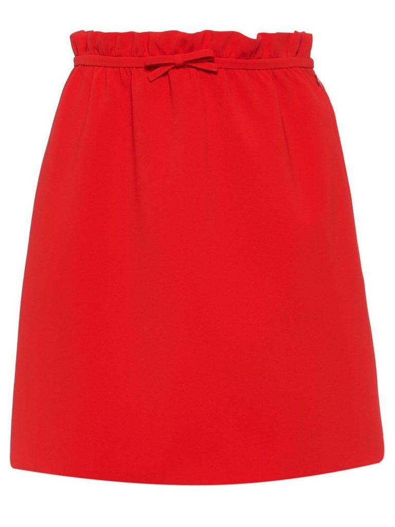 Miu Miu Faille cady skirt - Red