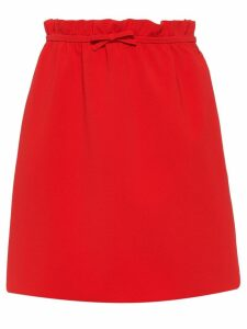 Miu Miu Faille cady skirt - Red