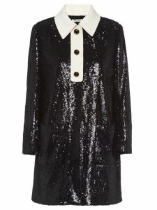 Miu Miu sequinned shirt dress - Black