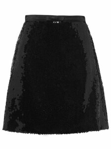 Miu Miu sequinned A-line skirt - Black