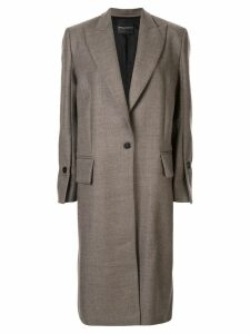 Erika Cavallini magnani single breasted overcoat - Neutrals