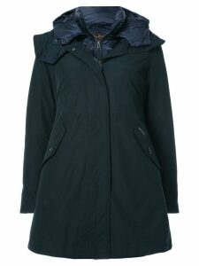 Woolrich layered down parka coat - Blue