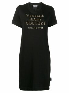 Versace Jeans Couture logo print T-shirt dress - Black
