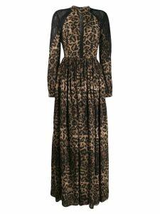 John Richmond leopard print maxi dress - Black