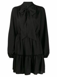 John Richmond Muriel pussy bow mini dress - Black
