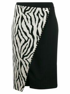 Cavalli Class zebra print wrap skirt - Black
