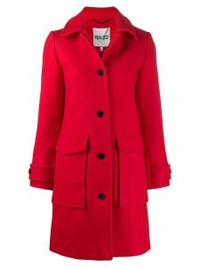 Kenzo single-breasted coat - Red