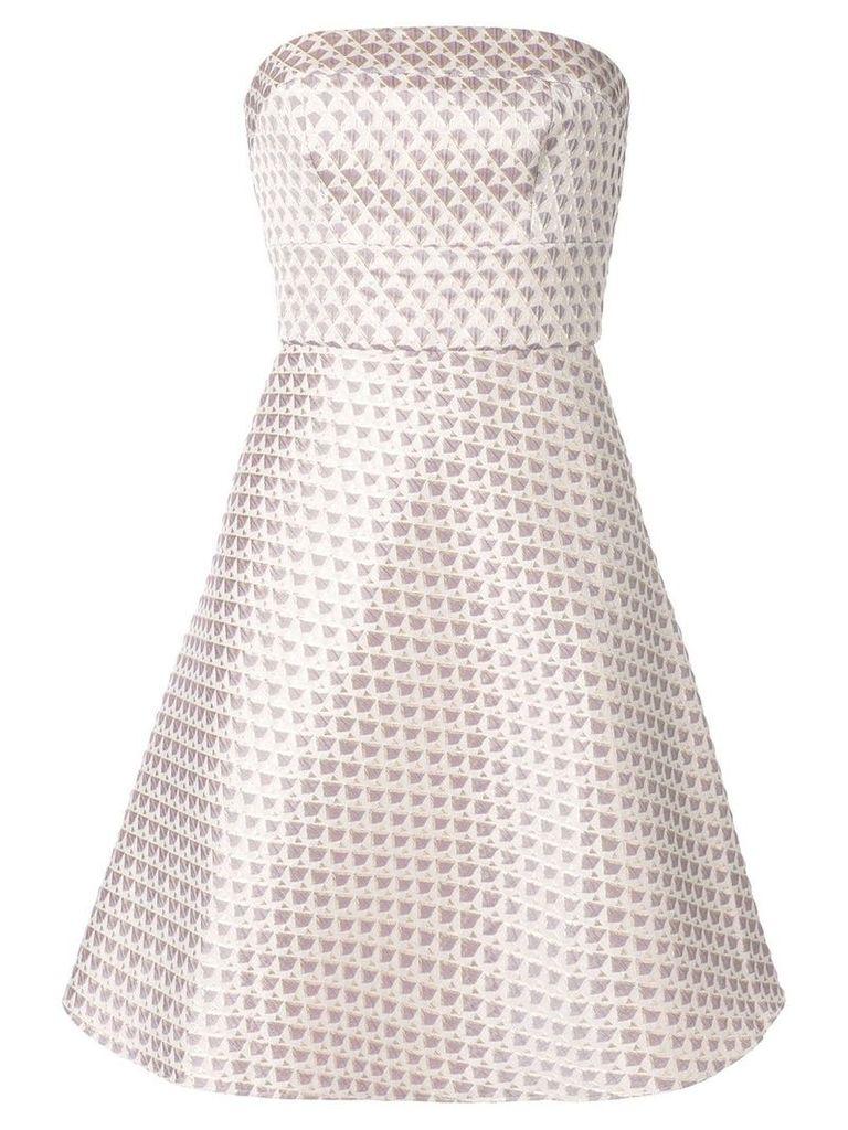 Bambah short geometric pattern dress - Purple