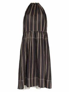 Lee Mathews Granada gathered midi dress - Black