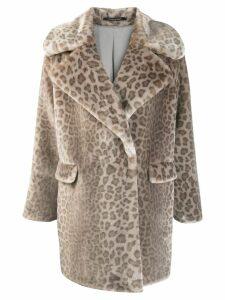 Tagliatore leopard print coat - Neutrals
