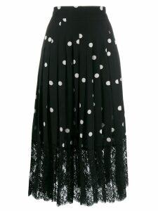 Dolce & Gabbana polka dot midi skirt - Black