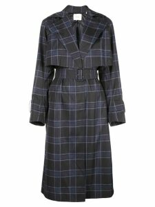 Vince double-breasted checked coat - Blue